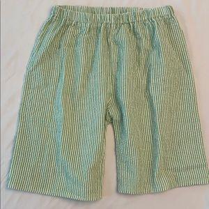 Other - Boys green seersucker shorts